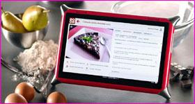 Tablette tactile pour la cuisine
